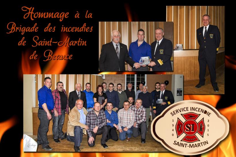 Hommage Pompiers St-Martin de Beauce